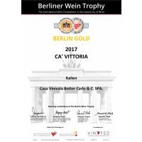 Urkunde Goldmedaille Berliner Wein Trophy 2018