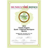 Urkunde Goldmedaille Mundus Vini Biofach 2018