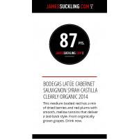 Urkunde James Suckling 87 Punkte 2019