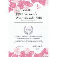 Urkunde Silbermedaille Sakura (Japan) Women s Wine Awards 2018