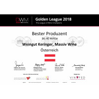 Golden League 2018_Bester Produzent Berliner Wein Trophy 2018 bis 40ha