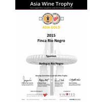 Urkunde Goldmedaille Asia Wine Trophy 2019 FRN 2015