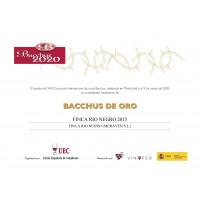 Urkunde Goldmedaille Bacchus 2020 FRN 2015