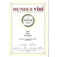Urkunde Goldmedaille Mundus Vini 2019 FRN 2015