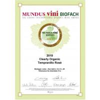 Urkunde Mundus Vini Biofach Gold 2020 CO Tempranillo Rosé 2019