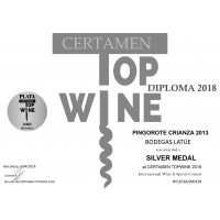 Silbermedaille Pingorote Crianza 2013 Topwine 2018