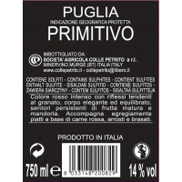 Rücken Colle Petrito Primitivo
