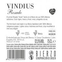Rückenetikett Vindius Rosé
