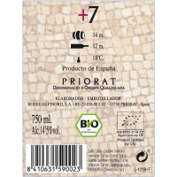 Rueckenetikett Pinord +7 Priorato