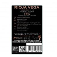 Rueckenetikett Rioja Vega Gran Reserva 2012