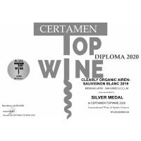 Urkunde Top Wine Silber 2020