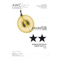 Urkunde AWC Vienna bester Produzent Spaniens 2019
