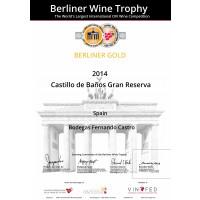 Urkunde Goldmedaille Berliner Wein Trophy 2020