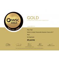 Urkunde RV Crianza Limited Edition 2017 Gold (95 Punkte) IWSC 2020