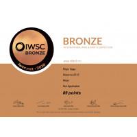 Urkunde RV Reserva 2015 Bronzemedaille (89 Punkte) IWSC 2020