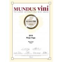 Urkunde Selected Harvest 2019 Gold Mundus Vini 2020
