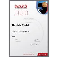 Urkunde Vivir sin Dormir 2018 Goldmedaille Brüssel 2020