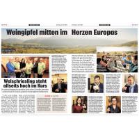 Weingipfel mitten im Herzen Europas 2019
